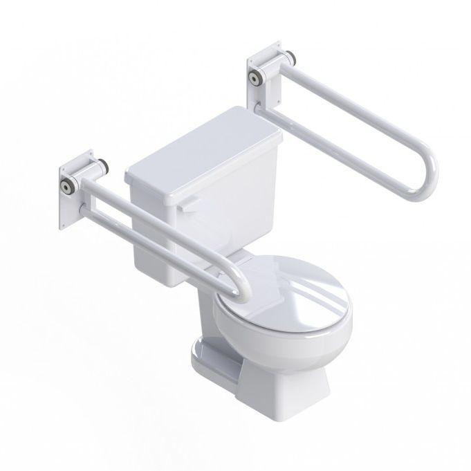 Bathroom grab bar / toilet / folding / wall-mounted - PT RAIL ...