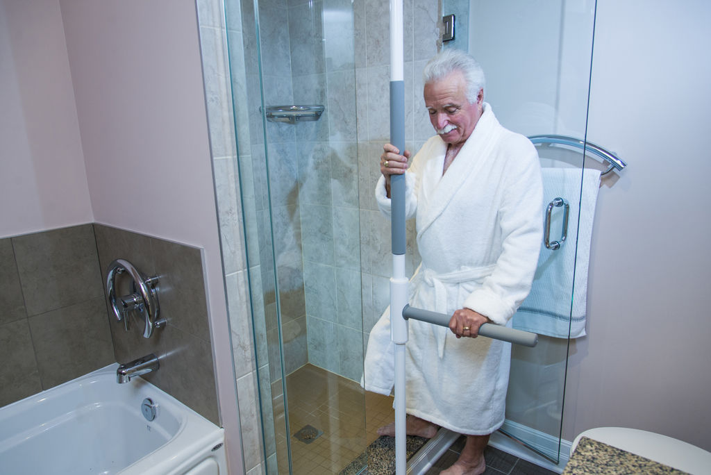 Delightful ... Bathtub Grab Bar / Bathroom / Floor Mounted SUPERBAR™ HealthCraft  Products ...