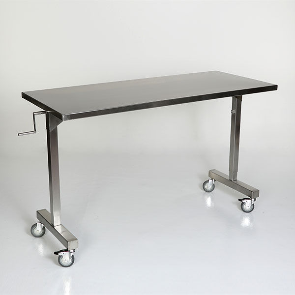 Work Table Rectangular Stainless Steel On Casters MCM - Stainless steel work table on casters