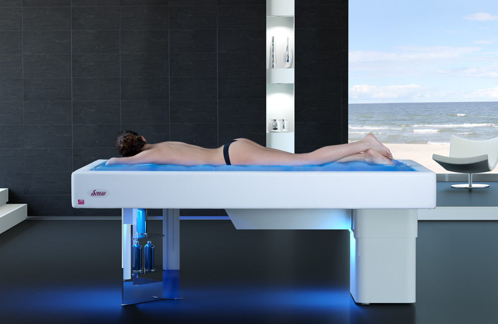 Hydromassage table with water jet - Senso - ISO Italia - Videos