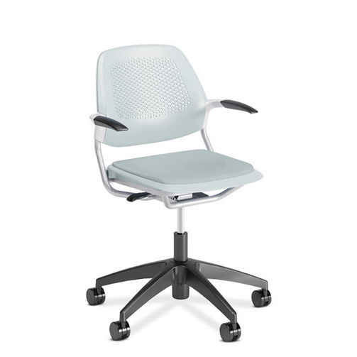 office chair with armrests on casters ergonomic inspire 5 star