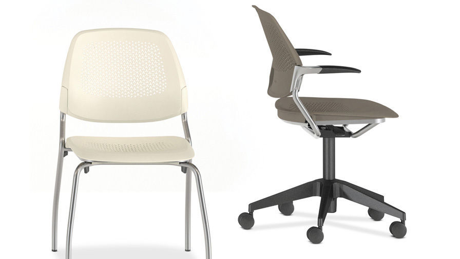 office chair with armrests on casters ergonomic inspire 5 star allsteel