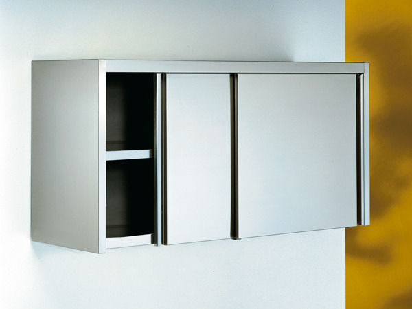 Storage cabinet / hospital / with shelf / with sliding door ...
