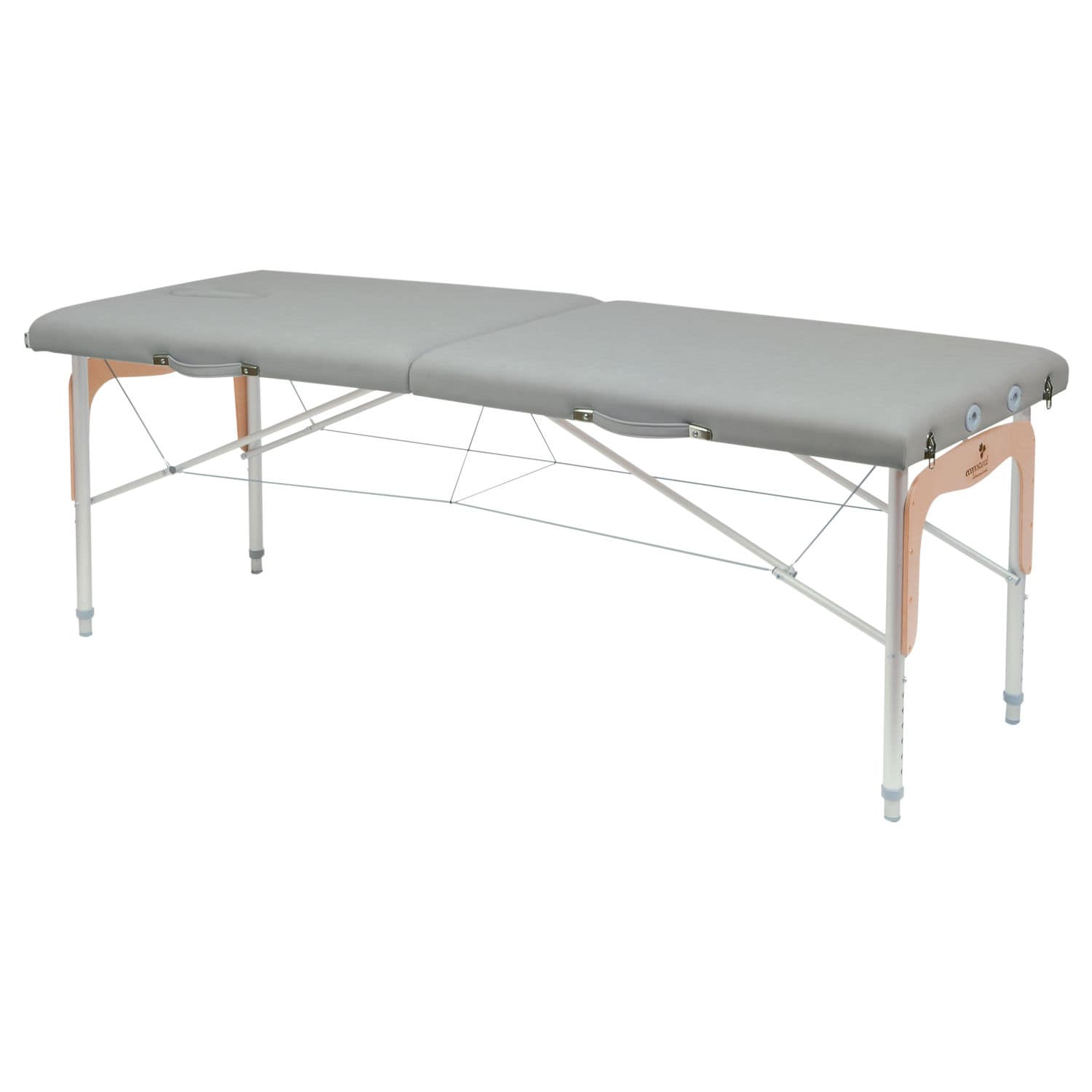 Manual massage table portable height adjustable 2 section