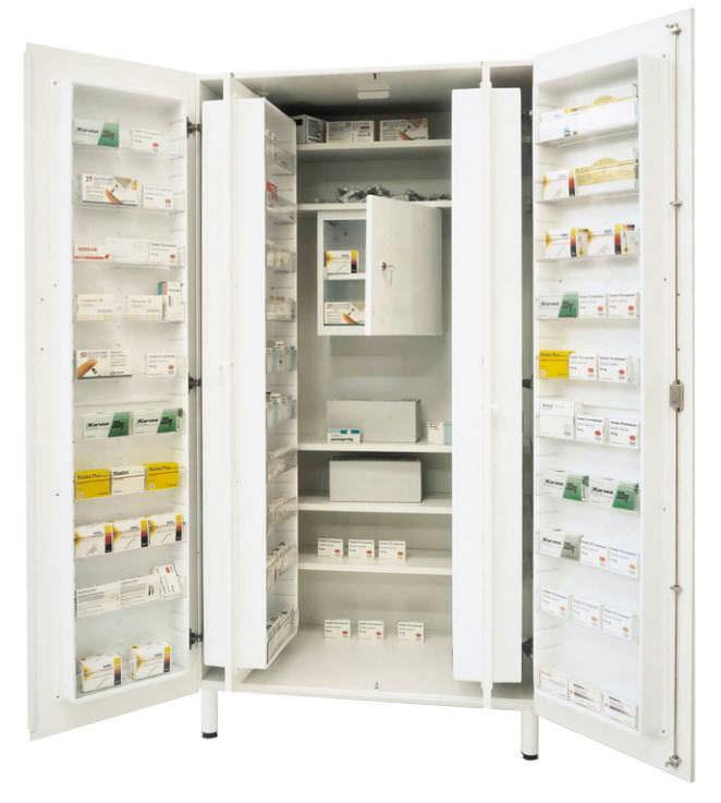 Storage Cabinet Medicine Hospital 2 Door Af Series Francehopital