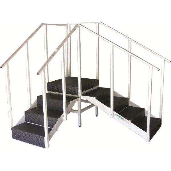 Corner rehabilitation staircase / with 2 handrails - GG13 - Genin ...