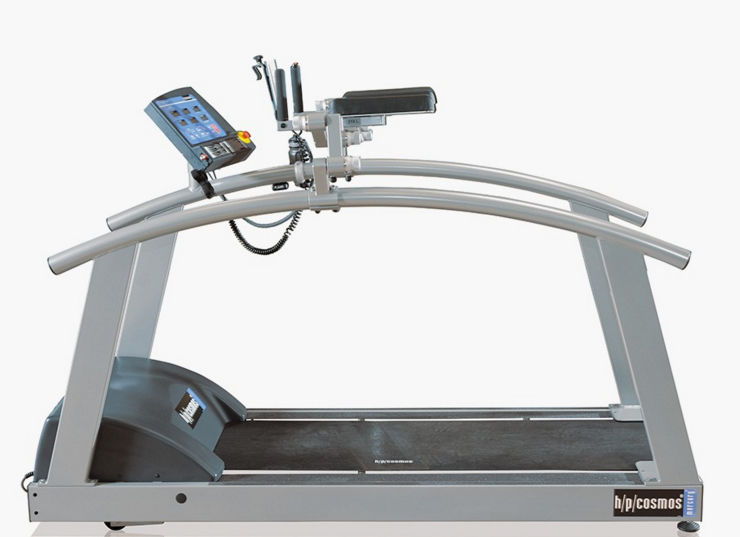 Treadmill with underarm bars / with handrails - h/p/cosmos® - h/p ...