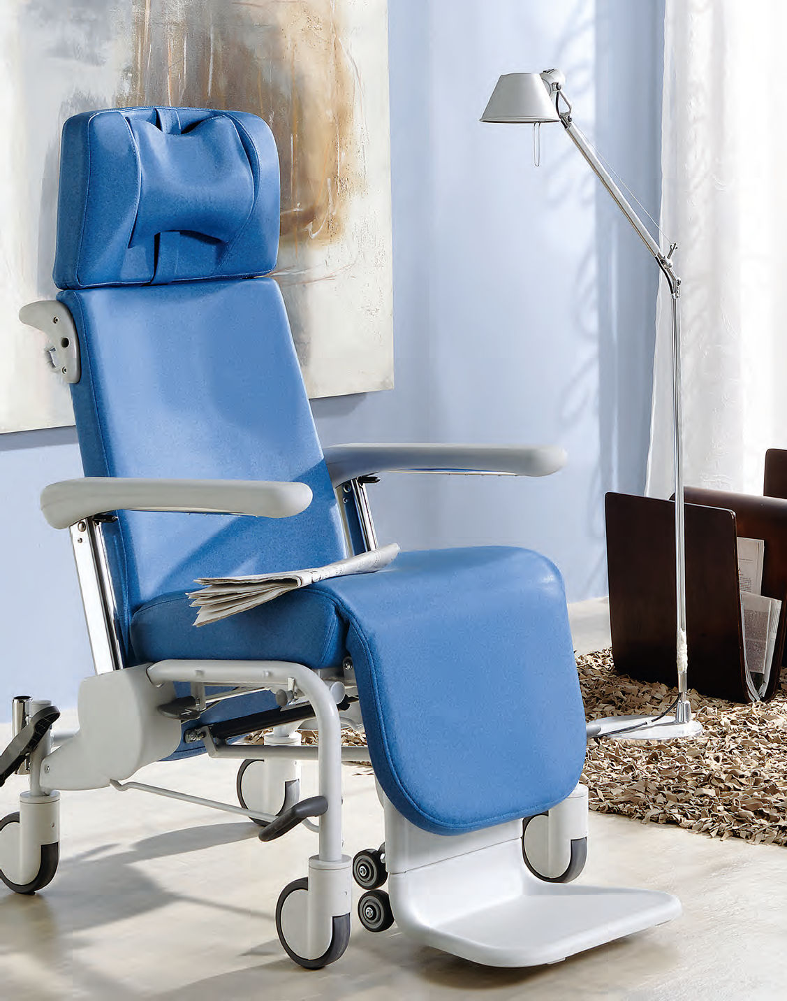 Patient transfer chair with adjustable backrest - Ravello ...