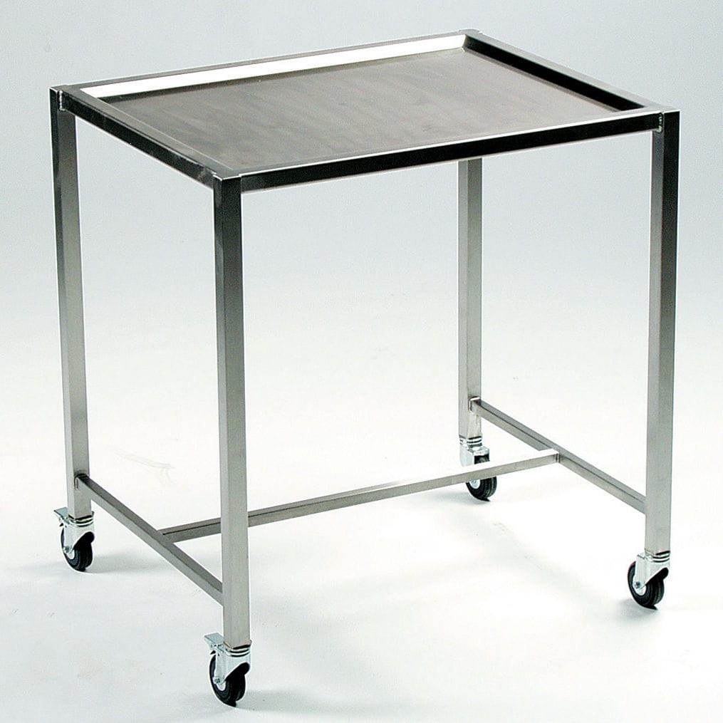 instrument table with shelves on casters stainless steel bt 80 rh medicalexpo com Metal Shelving bookshelves on casters