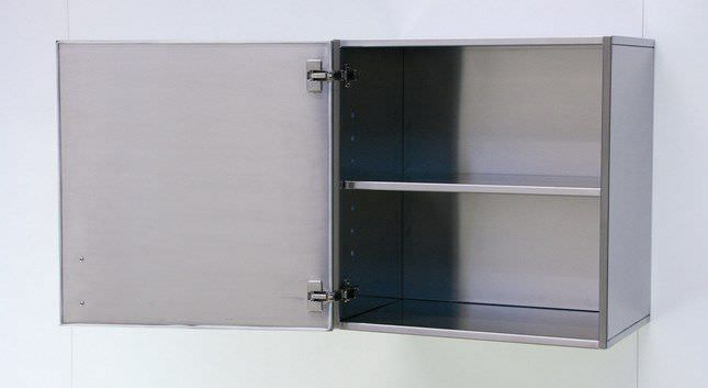 Storage cabinet / hospital / stainless steel / wall-mounted - HS ...