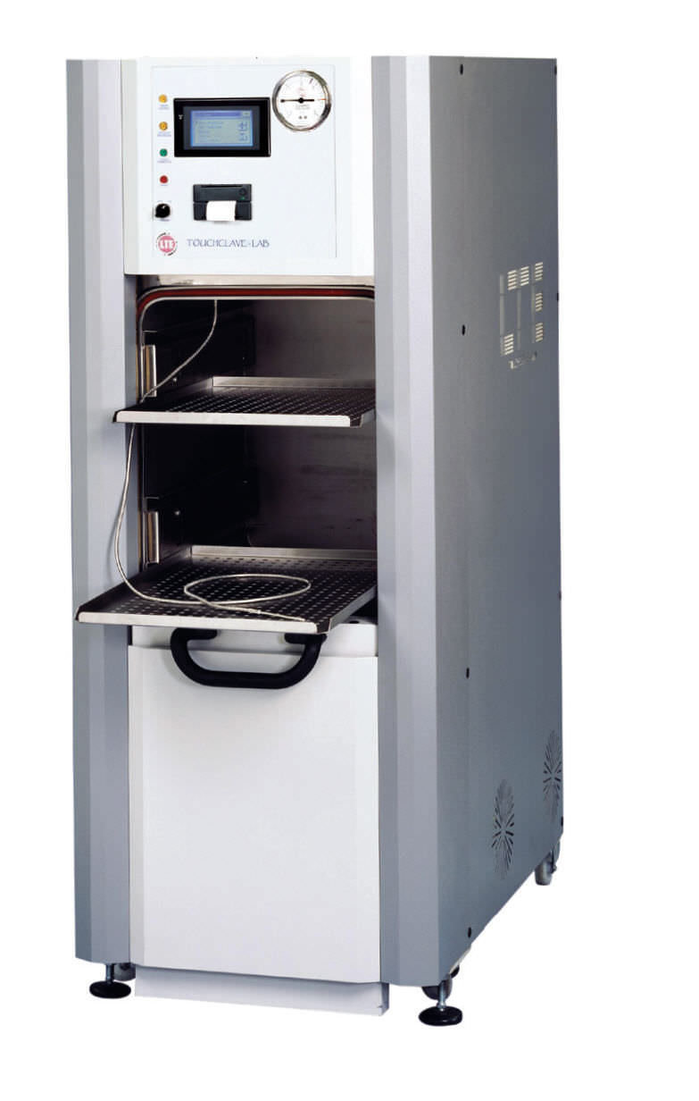 Medical Autoclave / Vertical / With Sliding Door   TOUCHCLAVE LAB F SERIES