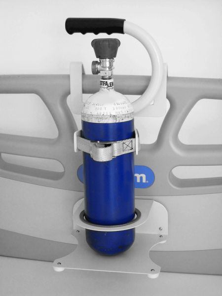 Oxygen Cylinder Equipment Support Bed Mounted 1 Cylinder Stable Single
