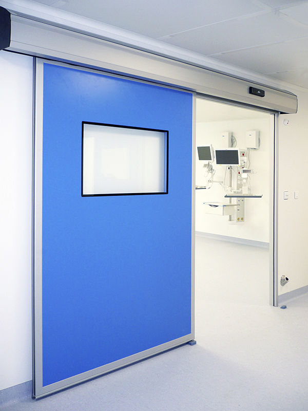 hospital door / laboratory / sliding / with glass panel ... & Hospital door / laboratory / sliding / with glass panel - HDS CLEAN ...