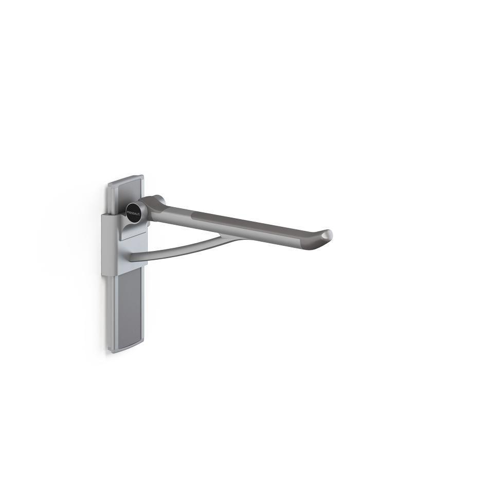 Toilet grab bar / folding / height-adjustable / removable ...