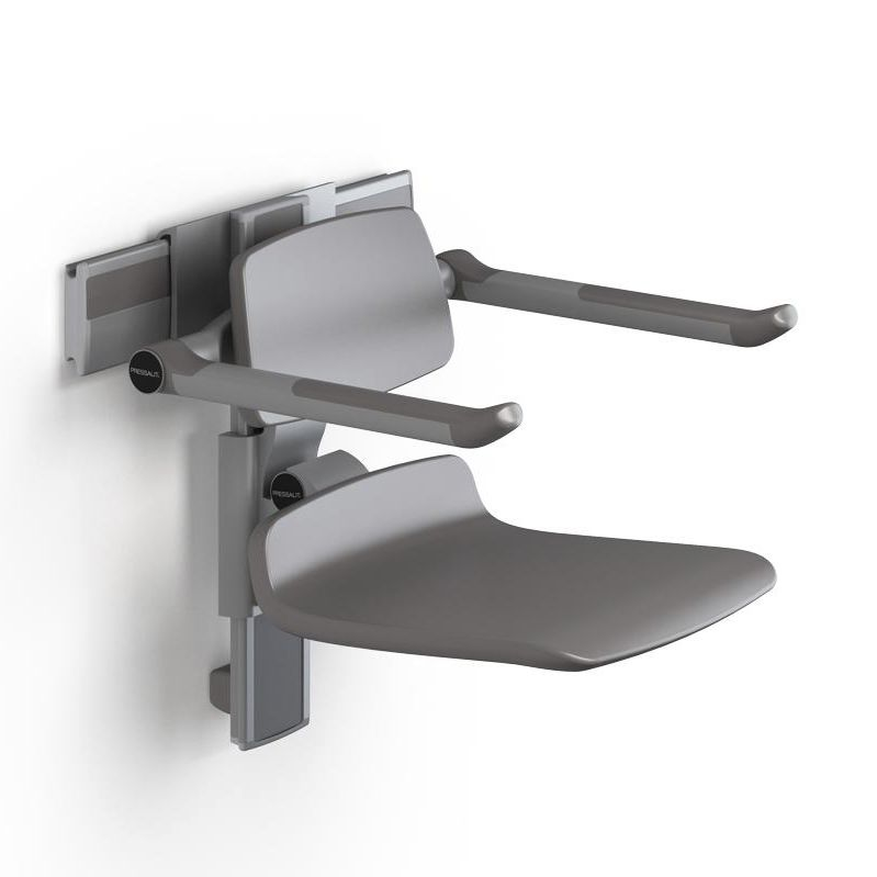 Shower seat / with armrests / wall-mounted / fold-down - R7450112000 ...