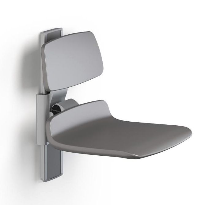 Shower seat / fold-down / wall-mounted / height-adjustable ...