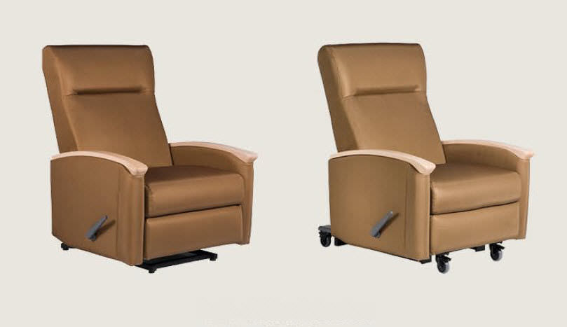 ... Reclining Patient Chair / On Casters / Bariatric / Manual ...