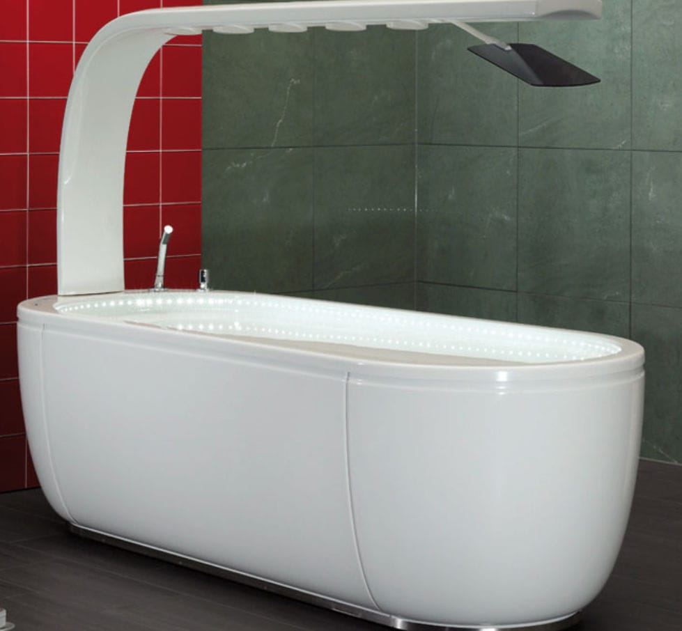Hydromassage bathtub with Vichy shower - VICHY PRESTIGE - Unbescheiden