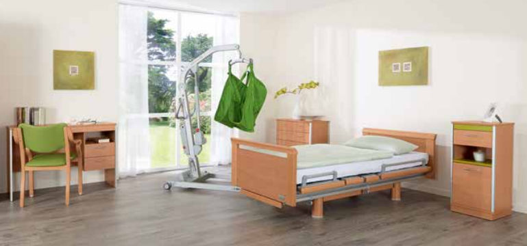 Homecare bed / electric / height-adjustable / on casters - 3080 ...