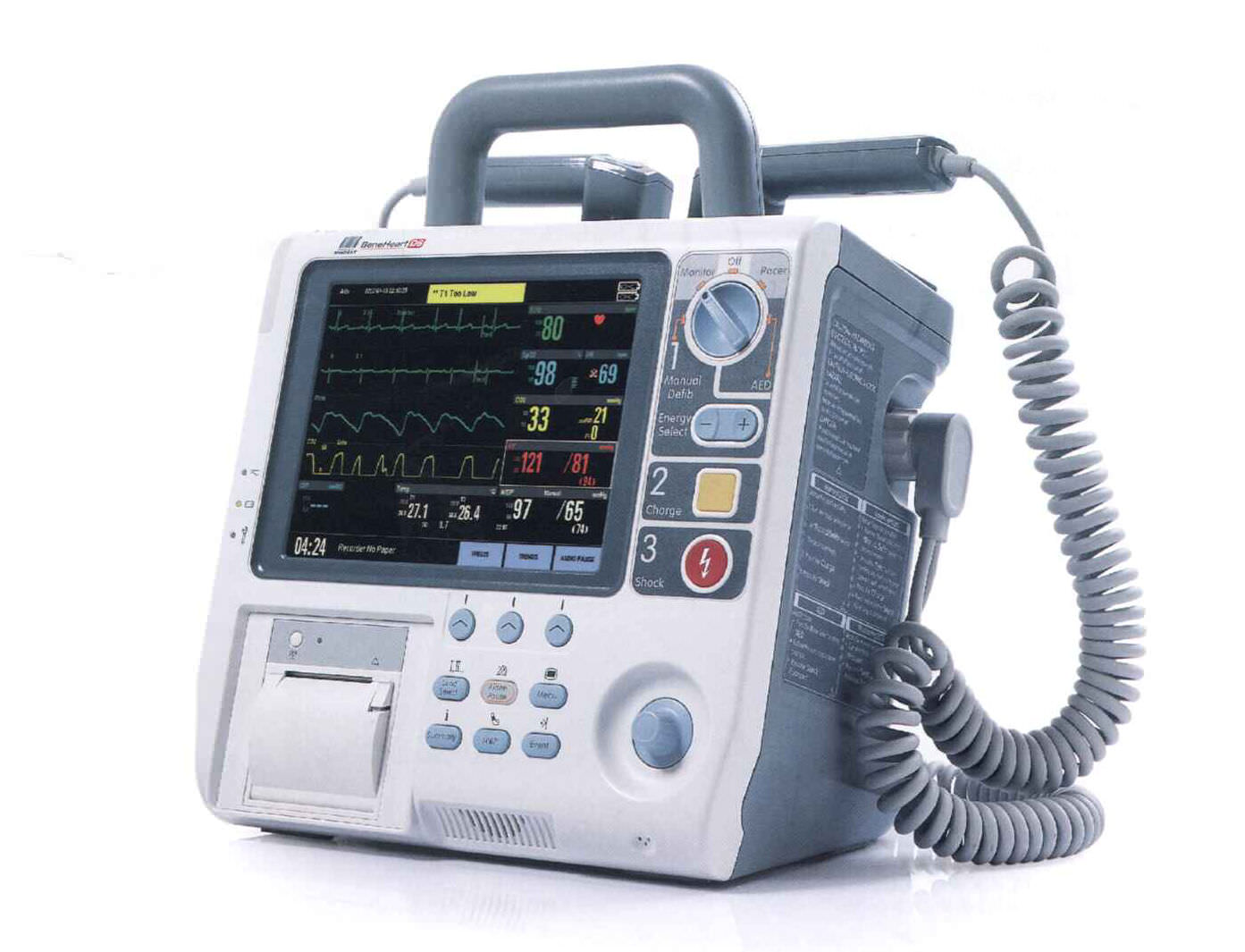 semi-automatic external defibrillator / with multi-parameter monitor  BeneHeart D6 Mindray