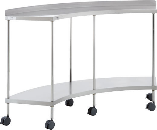 Work Table / Semicircular / On Casters / Stainless Steel   40200
