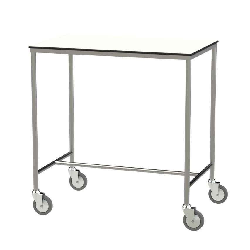 instrument table with shelves on casters stainless steel rh medicalexpo com Metal Shelving Steel Shelving
