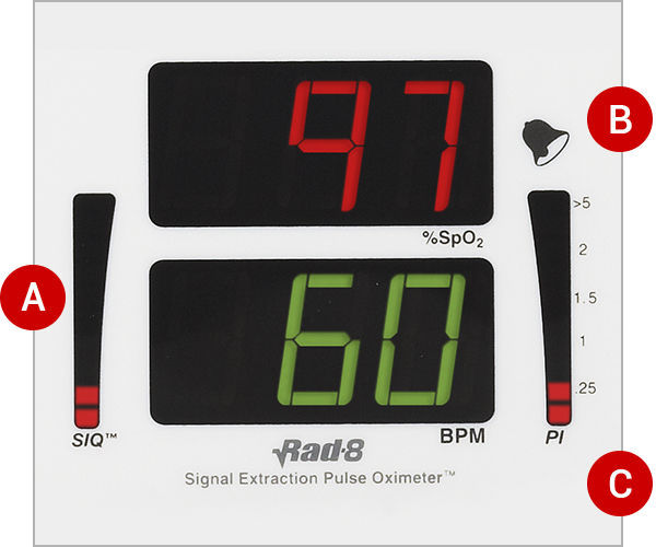 Compact pulse oximeter / tabletop / with separate sensor - Rad-8