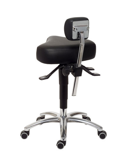Doctoru0027s Office Stool / Height Adjustable / With Backrest / On Casters  ErgoSolex Back Quality ...