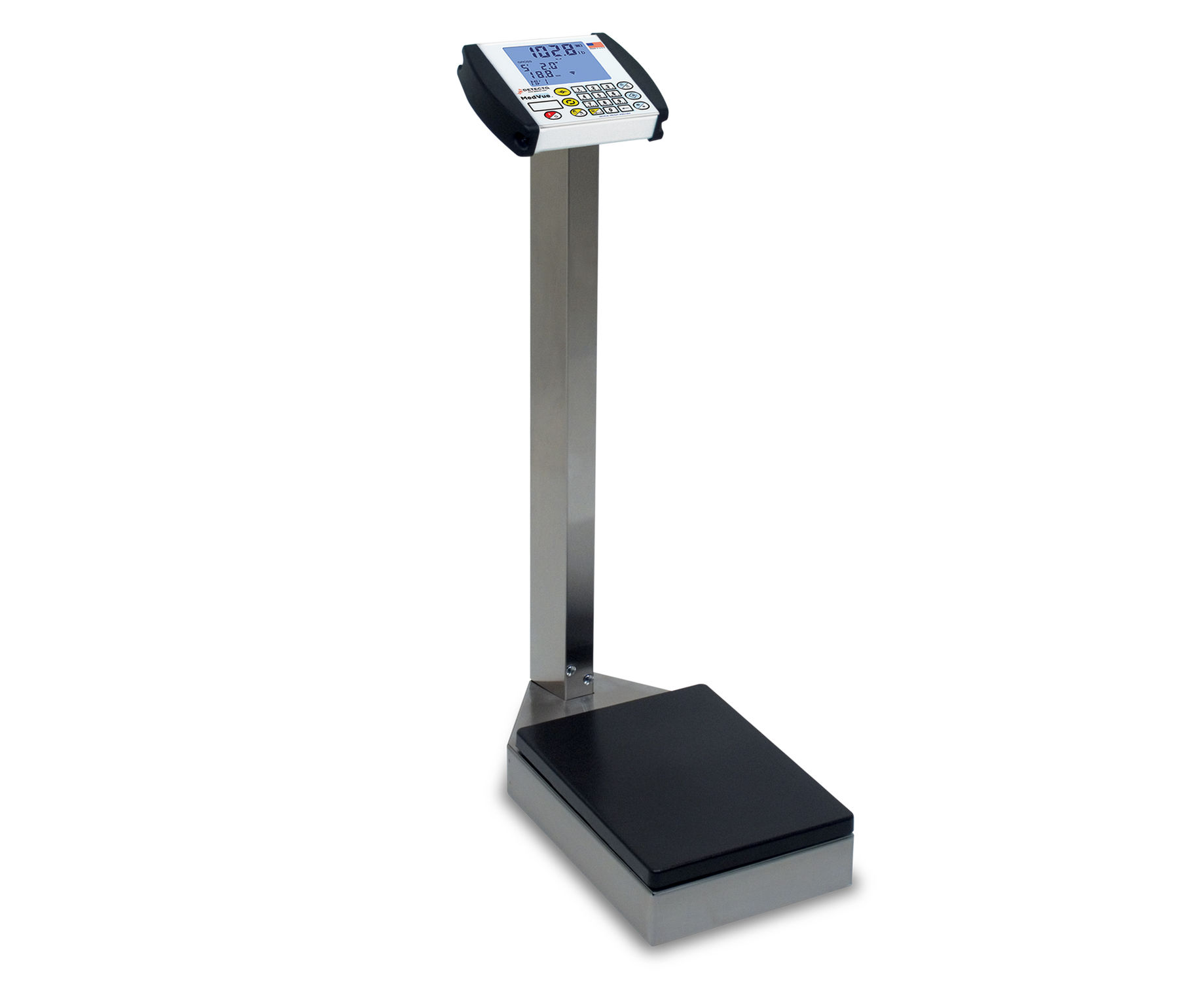 electronic patient weighing scales mechanical with digital display column type 8437s - Detecto Scales
