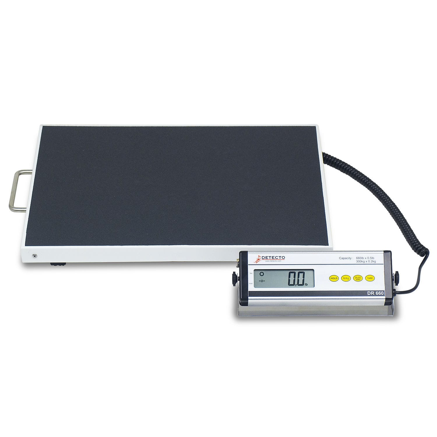 electronic patient weighing scales bariatric with lcd display with mobile display dr660 - Detecto Scales