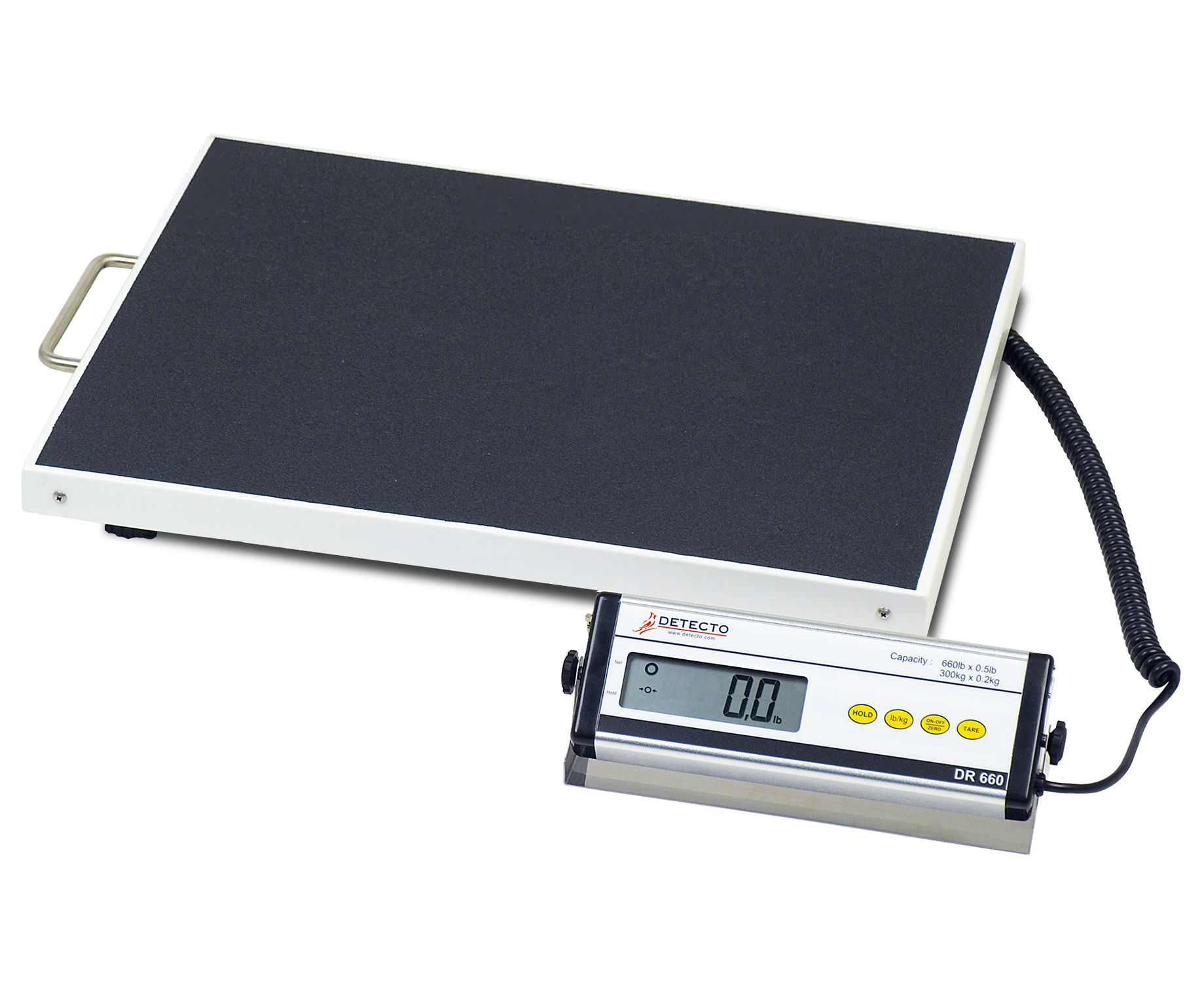 electronic patient weighing scales bariatric with lcd display with mobile display dr660 detecto - Detecto Scales