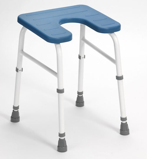 Shower stool   with cutout seat   height adjustable Cowley Drive Medical  Europe. Shower stool   with cutout seat   height adjustable   Cowley