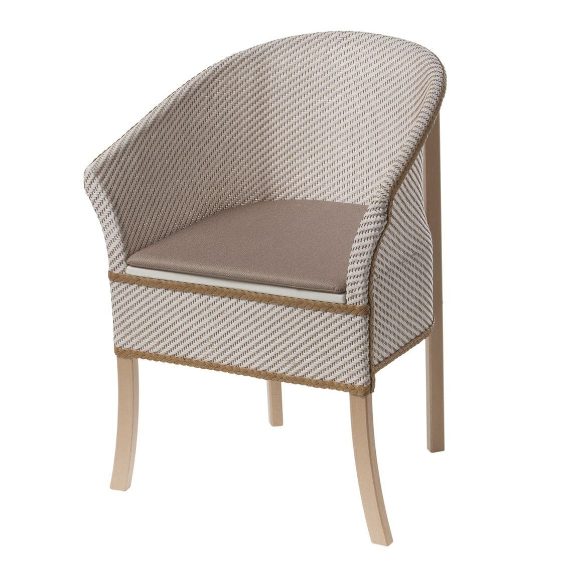 Commode Chair With Armrests   Basket Weave