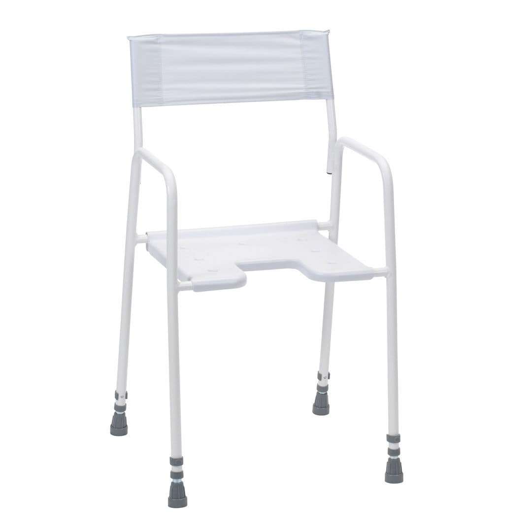 Shower chair / with cutout seat - Bradgate - Drive DeVilbiss Europe