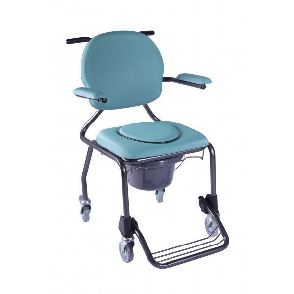 commode chair on casters / with bucket / with armrests - best up