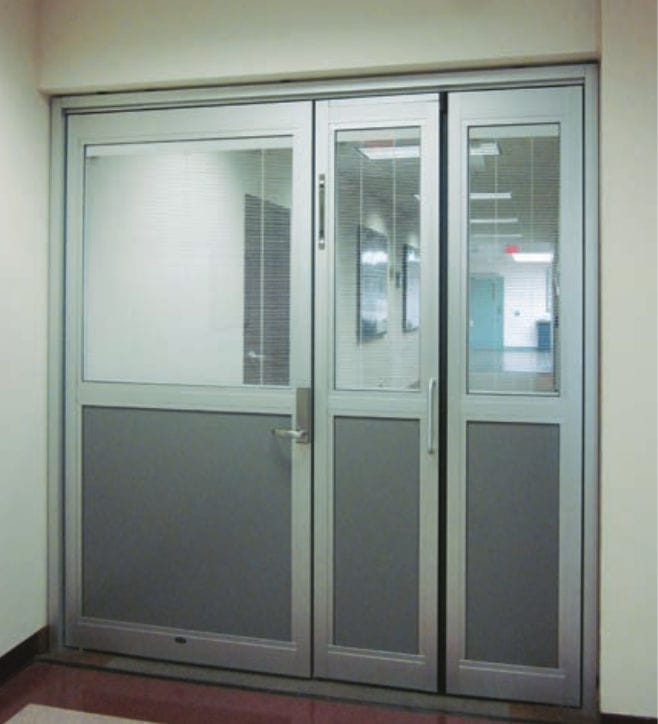 hospital door / laboratory / folding / glass ... : besam doors - pezcame.com