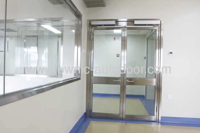 Hospital door / sliding / glass / with glass panel - OZP01 - OWNIC