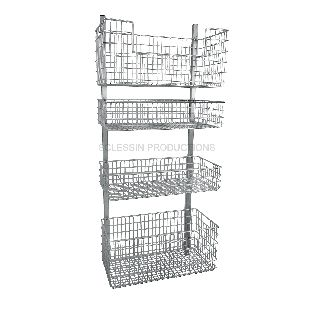 ... Modular Shelving Unit / For Basket Storage / Wall Mounted / Stainless  Steel Sclessin Productions
