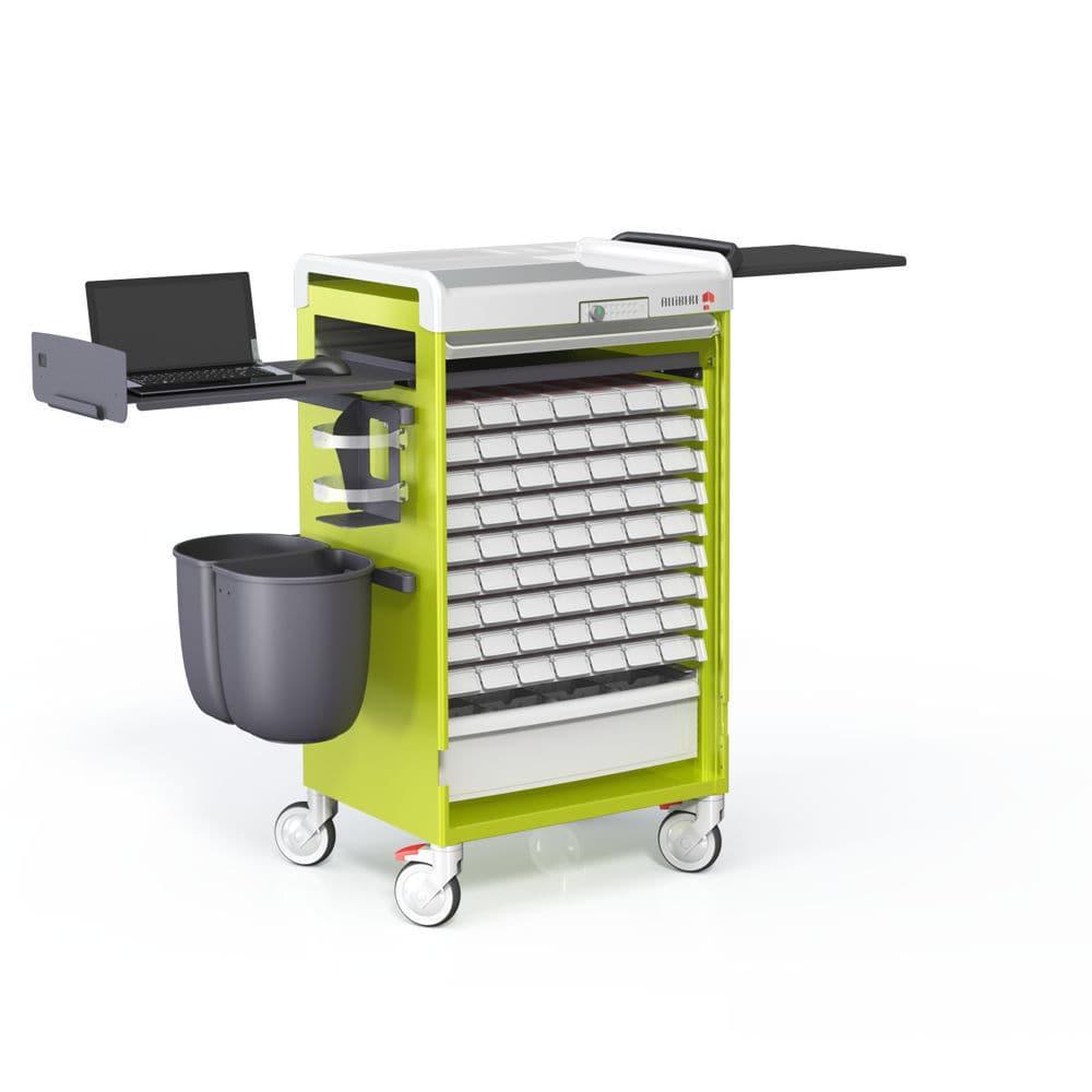 Storage Trolley Medicine Distribution Medication With Drawer Logist Alli Allibert Medical