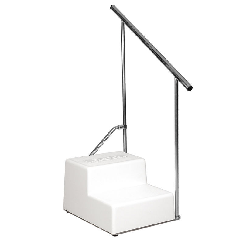 Merveilleux 2 Step Step Stool / With Handrail / Bathtub   RECTANGULAR STEPS WITH  HANDRAIL