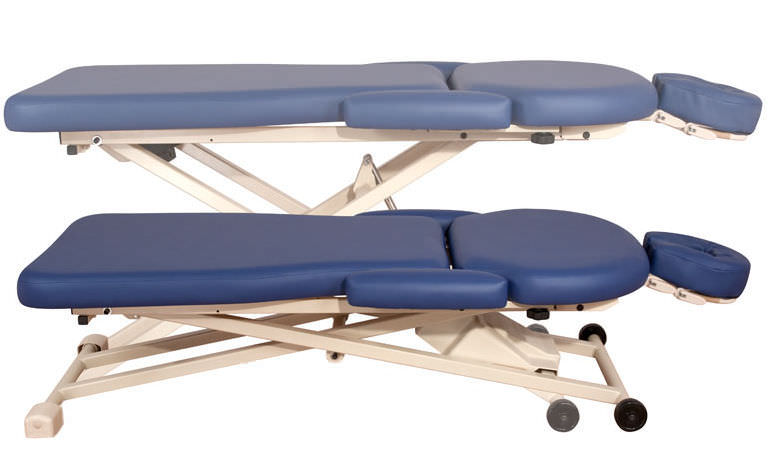 electric massage table on casters with headrest pt400m oakworks massage