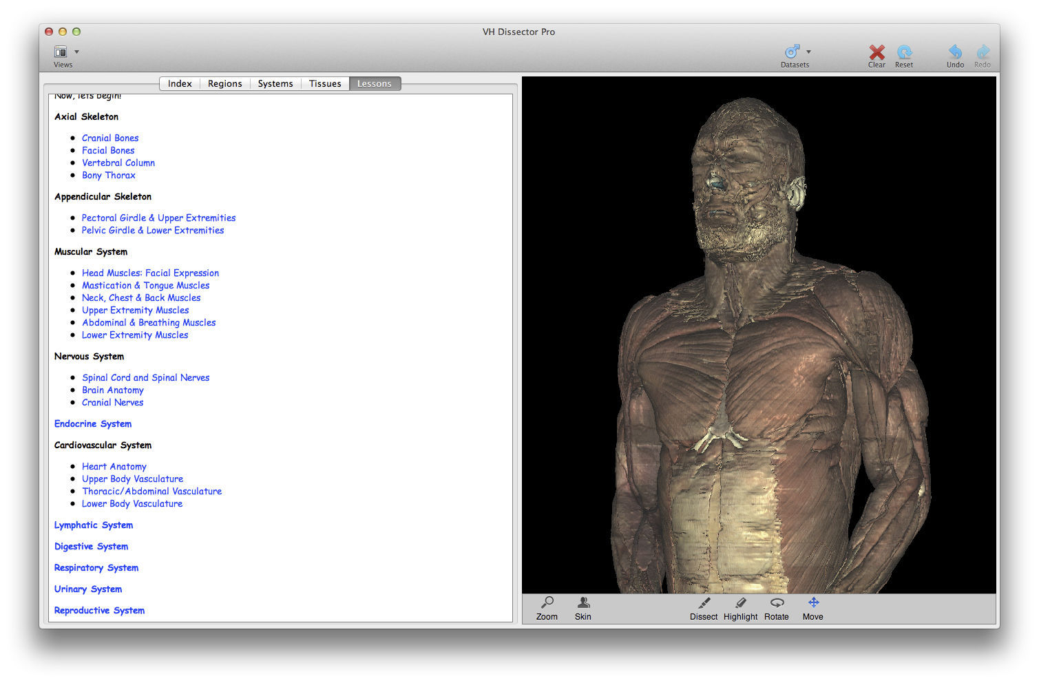 Training Software Anatomy Vh Dissector For Undergraduate