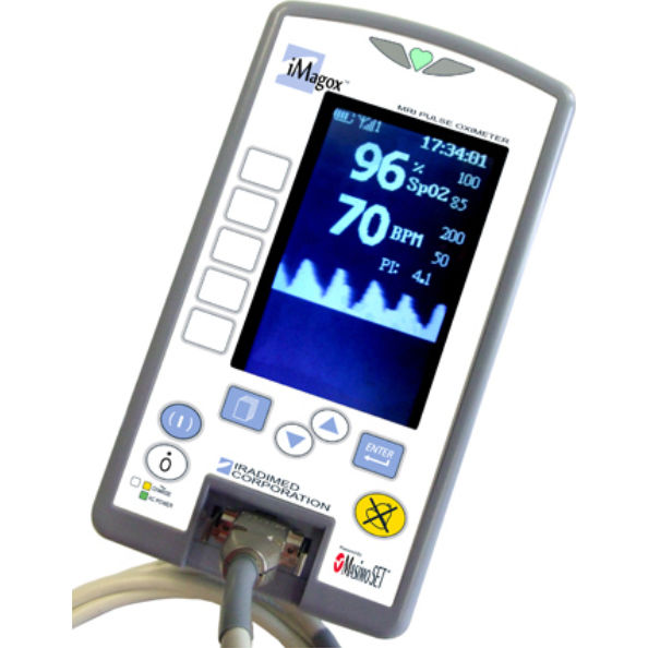 Tabletop pulse oximeter / non-magnetic / fiber optic / with separate