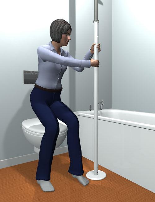 Toilet grab bar / floor-mounted - 1150 - Stander - Videos