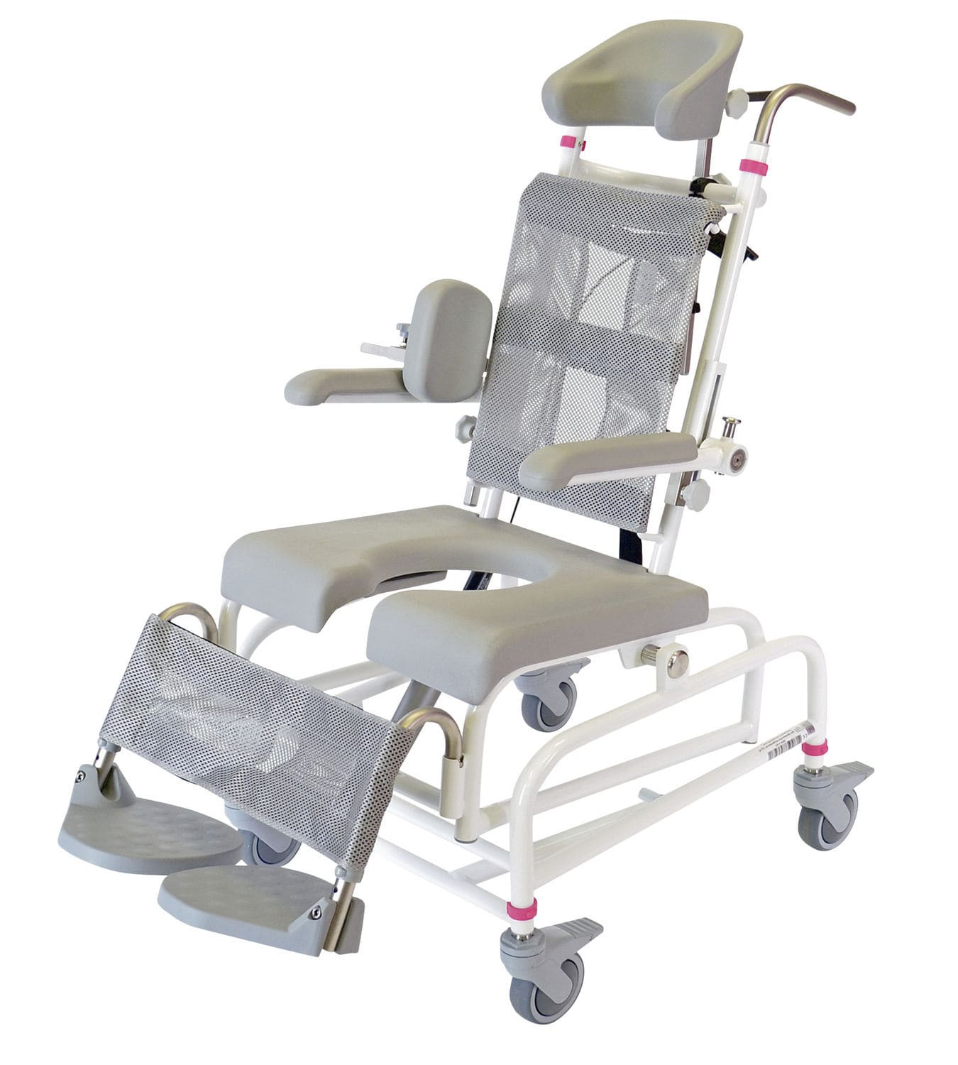 Shower chair / on casters / with cutout seat - M2 MINI GAS-TIP - HMN