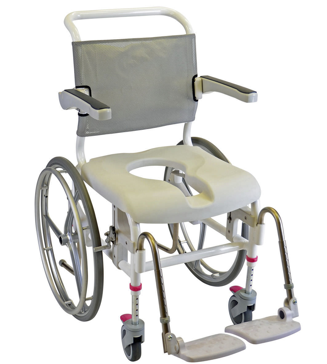 passive wheelchair shower height adjustable commode 313030