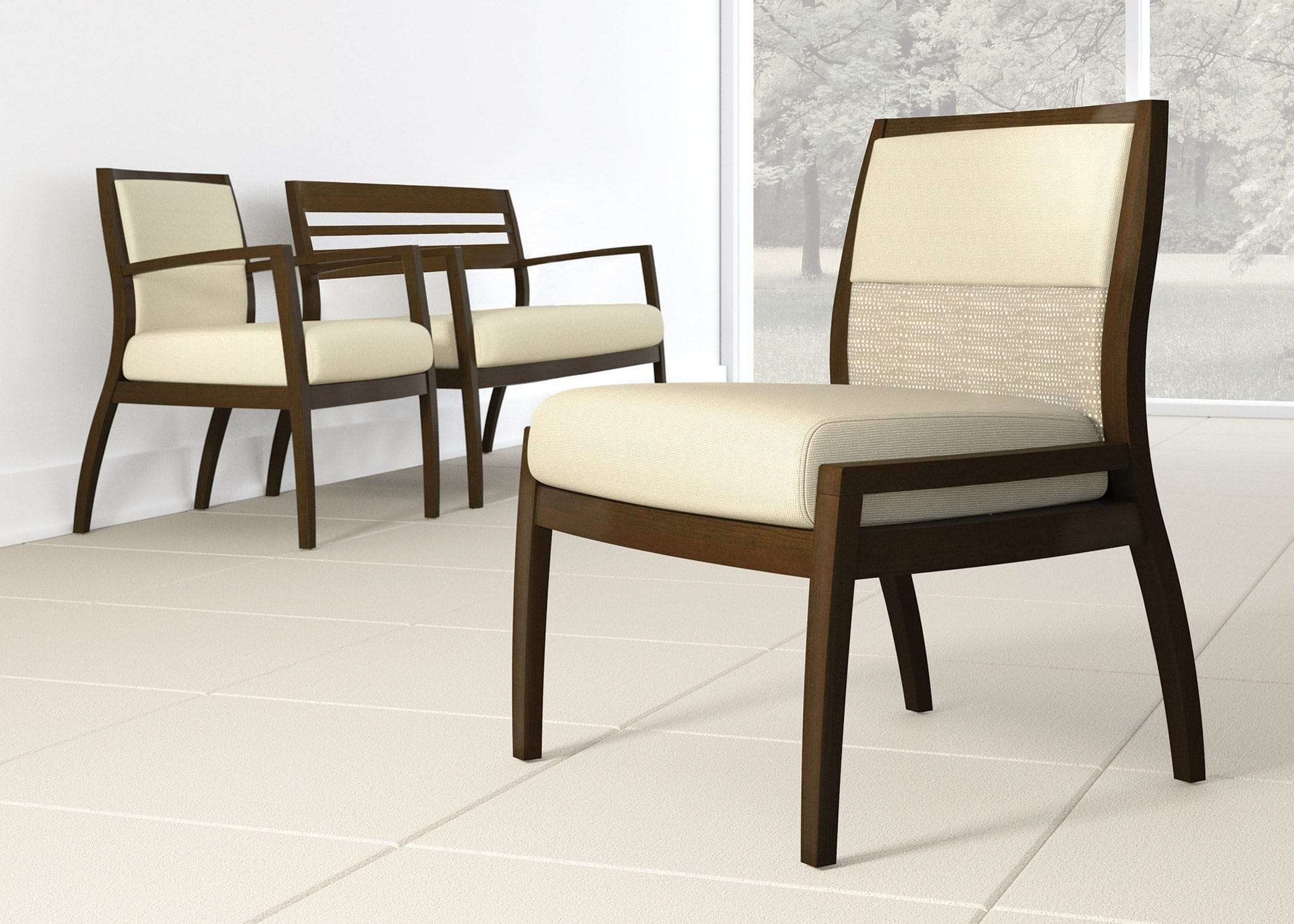 Dining room chair for waiting rooms office with armrests
