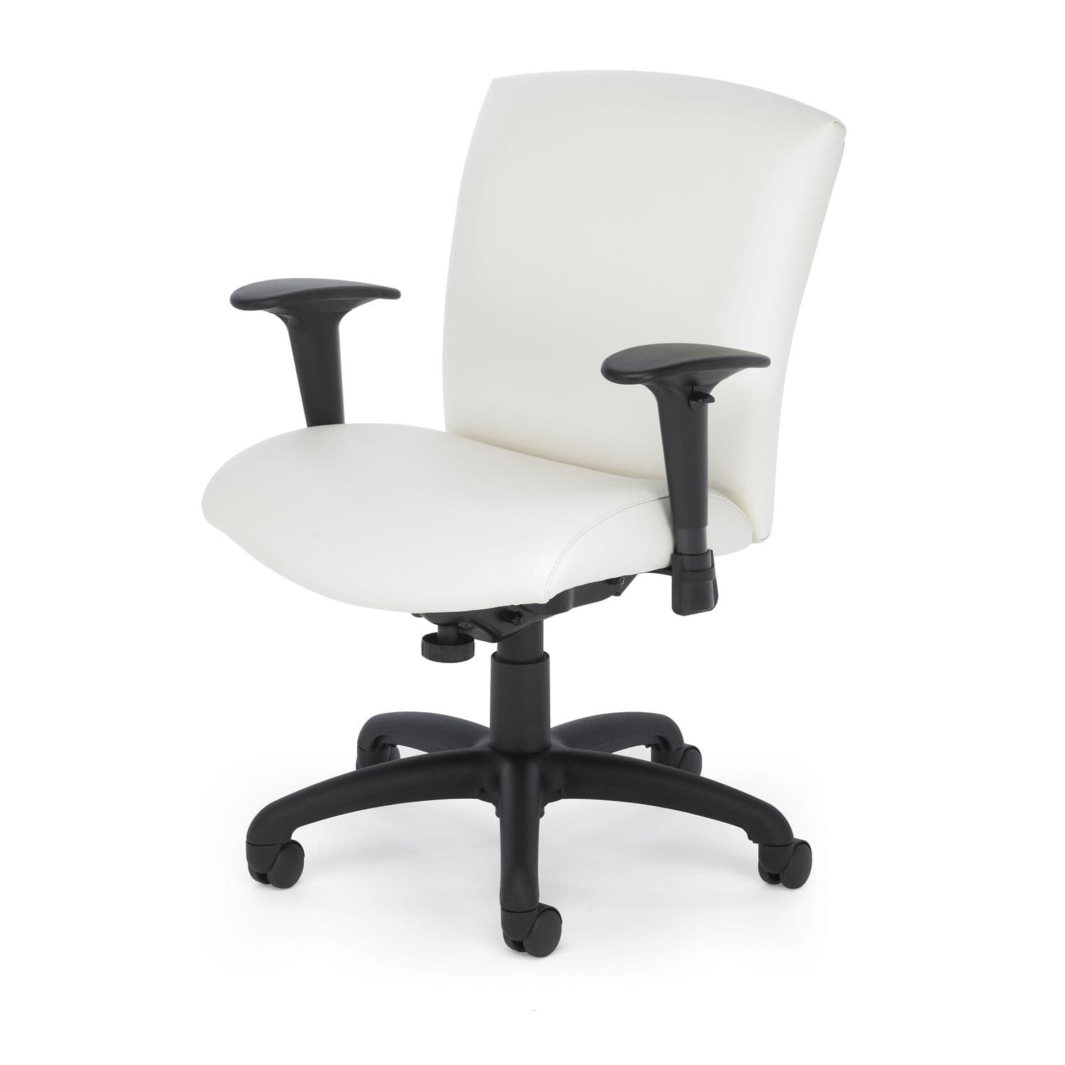 fice chair with armrests on casters height adjustable