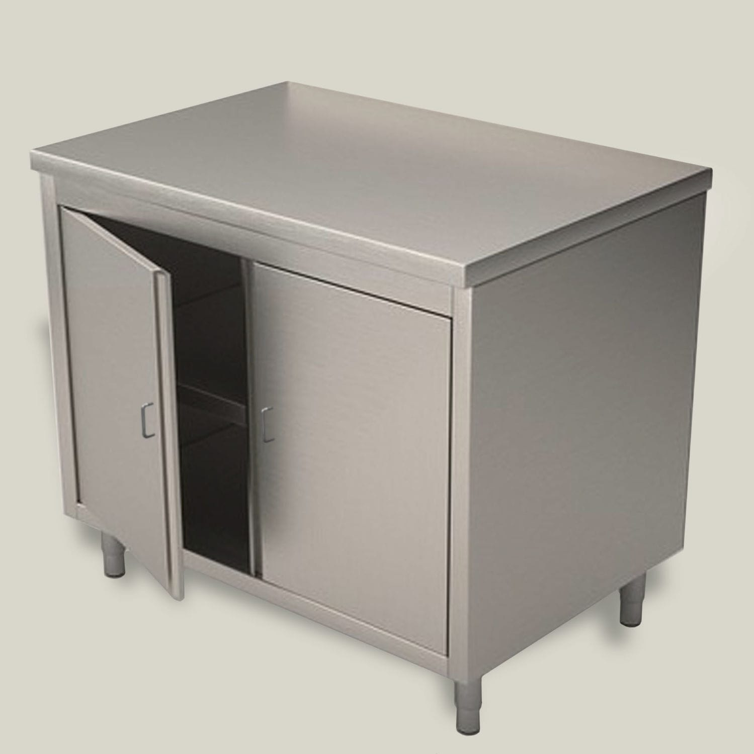 Cabinet With Shelf / With Hinged Door / Stainless Steel   FR300, FR310
