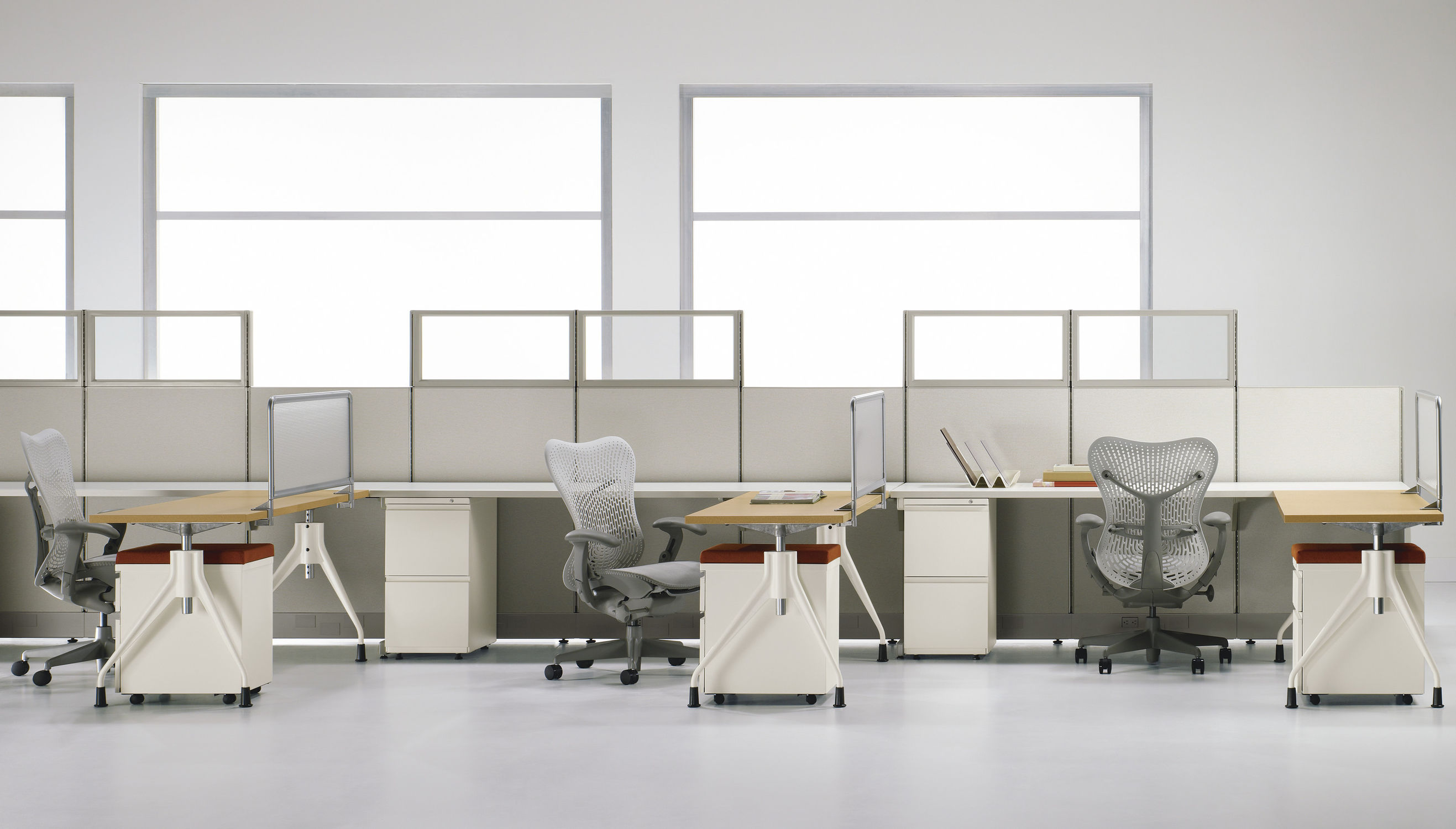 Workstation desk - Action Office System - Herman Miller